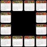 Vector calendar 2014. Vector EPS 10. Style khokhlo Royalty Free Stock Photos