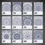Vector Calendar 2016 Royalty Free Stock Photography