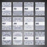 Vector Calendar 2016 Royalty Free Stock Photo