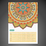 Vector Calendar 2016. Calendar 2016. Vintage decorative elements. Ornamental floral business cards, oriental pattern, vector illustration Royalty Free Stock Photos