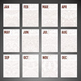 Vector Calendar 2016 Royalty Free Stock Images