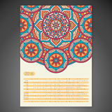Vector Calendar 2016. Calendar 2016. Vintage decorative elements. Ornamental floral business cards, oriental pattern, vector illustration Royalty Free Stock Photography