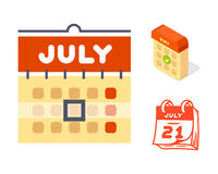Vector calendar web icons office organizer business graphic paper plan appointment and pictogram reminder element for Stock Photo