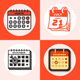 Vector calendar web icons office organizer business graphic paper plan appointment and pictogram reminder element for Stock Photography