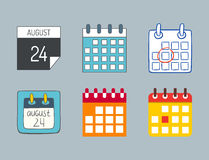 Vector calendar web icons office organizer business graphic paper plan appointment and pictogram reminder element for Royalty Free Stock Images
