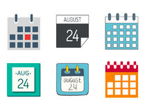 Vector calendar web icons office organizer business graphic paper plan appointment and pictogram reminder element for Stock Photos