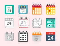 Vector calendar web icons office organizer business graphic paper plan appointment and pictogram reminder element for Royalty Free Stock Photography