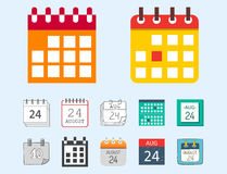 Vector calendar web icons office organizer business graphic paper plan appointment and pictogram reminder element  Stock Photography