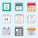 Vector calendar web icons office organizer business graphic paper plan appointment and pictogram reminder element for Royalty Free Stock Image