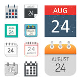 Vector calendar web icons office organizer business graphic paper plan appointment and pictogram reminder element for Stock Images