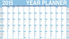 Vector Calendar for 2015. Week starts on Sunday Stock Photos