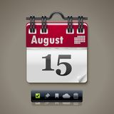 Vector Calendar XXL Icon Stock Image