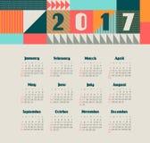 Vector Calendar 2017 year. Week Starts Sunday. Modern vector Calendar 2017 year. Week Starts Sunday, eps 10 Royalty Free Stock Photography