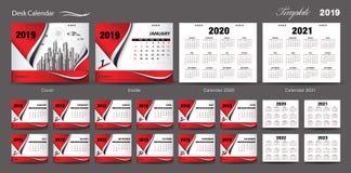 Vector 2019, calendario del diseño de la plantilla del calendario de escritorio del sistema 2020, 2021, 2022, 2023, diseño de la  libre illustration