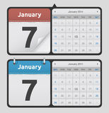 Vector Calendars. All designs are made with editable vector layers. You can easy edit to customize size, colors and designs Royalty Free Stock Photos