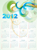 Vector calender. Vector happy new year 2012 calender illustration royalty free illustration