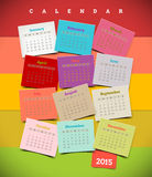 Vector calender for new year 2015 Stock Images