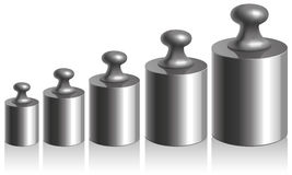 Vector calibration iron weights on a white background Royalty Free Stock Image