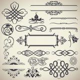 Vector caligráfico de los elementos del diseño del vintage Foto de archivo