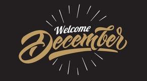 Vector caligráfico del texto de los cristmas de diciembre de la recepción ilustración del vector