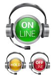 Vector call-center buttons Royalty Free Stock Image