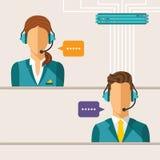 Vector call center concept Royalty Free Stock Photos