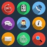 Vector call center icons Stock Photo