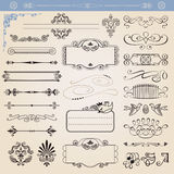 Vector calligraphic decoration elements set Stock Photos