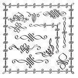 Vector Calligraphic Design Elements. Hand  Drawn Modern Calligra Royalty Free Stock Photo