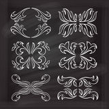 Vector calligraphic design elements. Royalty Free Stock Photography
