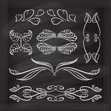 Vector calligraphic design elements. Stock Photography
