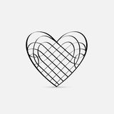 Vector calligraphic Heart Royalty Free Stock Images