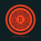 Vector calligraphic logo template. Luxury retro label Royalty Free Stock Photography