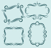 Vector Calligraphic ornate frames. A set of four vector elegant calligraphic frames Royalty Free Stock Photography