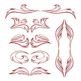 Vector calligraphy elements. Royalty Free Stock Photos