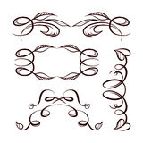 Vector calligraphy elements set. Royalty Free Stock Image