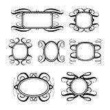Vector calligraphy frames set Royalty Free Stock Photo