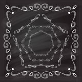 Vector calligraphy frames set Stock Images