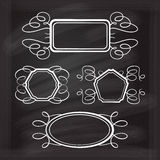 Vector calligraphy frames set Royalty Free Stock Image