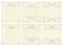 Vector calligraphy ornamental decorative frame. Stock Images