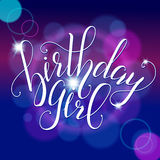 Vector Calligraphy script Quote Birthday Girl. Stock Photography