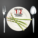Vector of Calories in Asparagus Royalty Free Stock Image