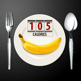 Vector of Calories in Banana Stock Photos