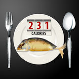 Vector of Calories in Mackerel Royalty Free Stock Images