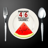 Vector of Calories in Watermelon Royalty Free Stock Photography