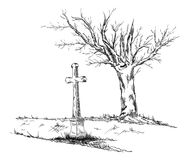 Calvary black and white Stock Image