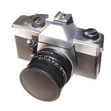 Vector camera. Grey vector of the camera Royalty Free Stock Images
