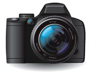 Vector camera Stock Photo