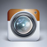 Vector camera application icon Stock Photos