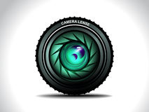 Vector Camera With Colorfull Lens Stock Photos